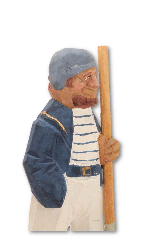 Folk Art  Folk Art Sailor Wood Sailor Wood by ClockworkRummage, $10.00