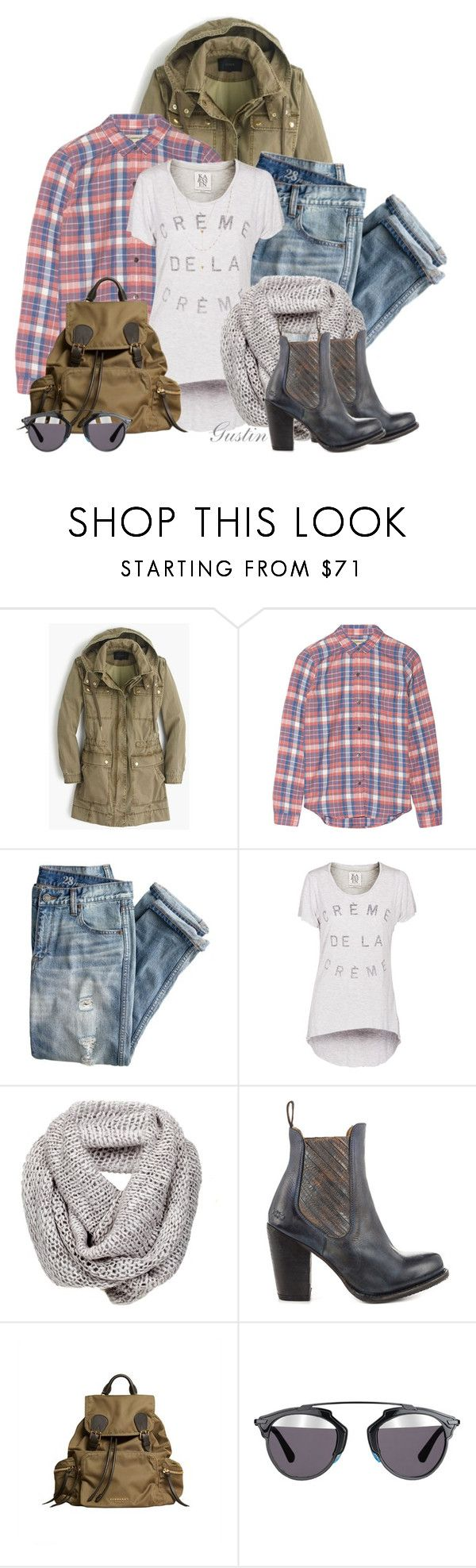 """""""fall"""" by stacy-gustin ❤ liked on Polyvore featuring J.Crew, Current/Elliott, Zoe Karssen, Bed