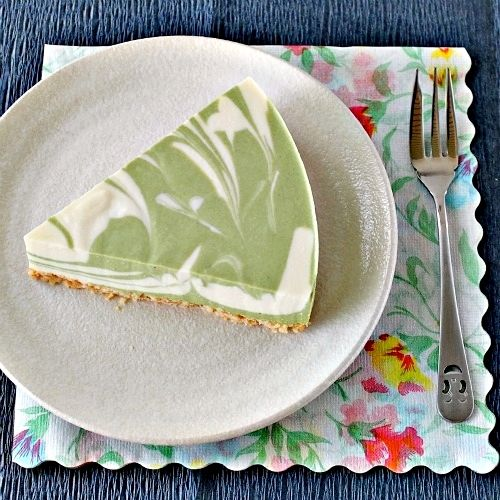 No-Bake Green Tea Tofu Cheesecake recipe | very healthy, it's eggless and no cream added which made it light and not heavy.