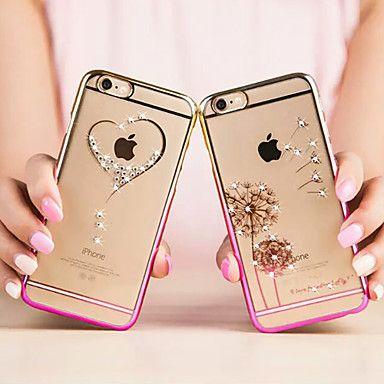 moda chapado de diamante brillante cubierta de plástico ultra delgado para el iphone 6 (colores surtidos) – USD $ 5.99