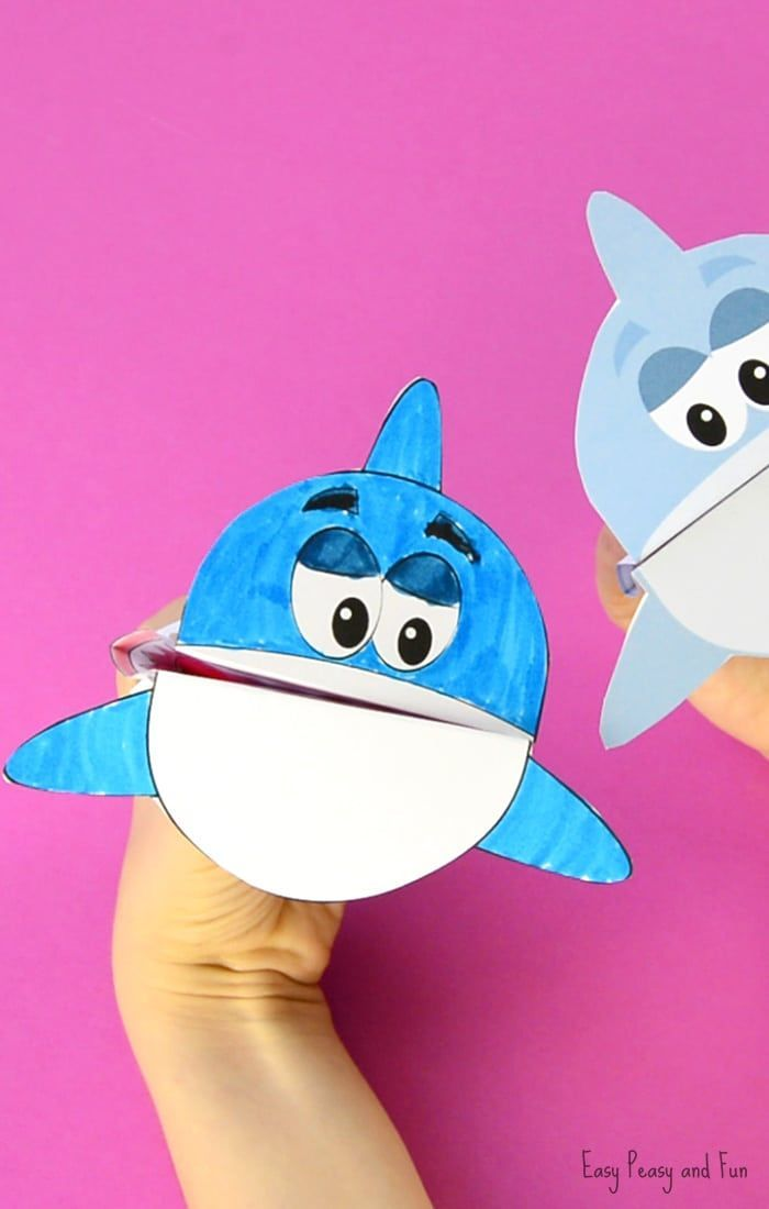 Printable Shark Puppet Puppets
