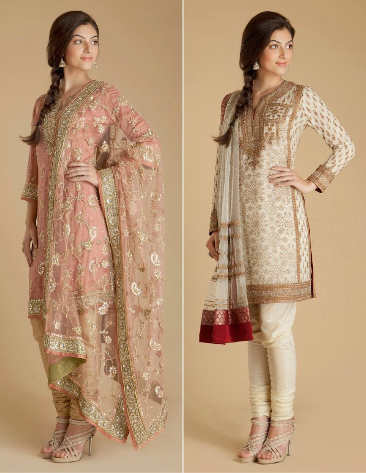 gorgeous churidar-kameez-dupatta sets, with exquisite, delicate embroidery from http://www.ritukumar.com/#/home/