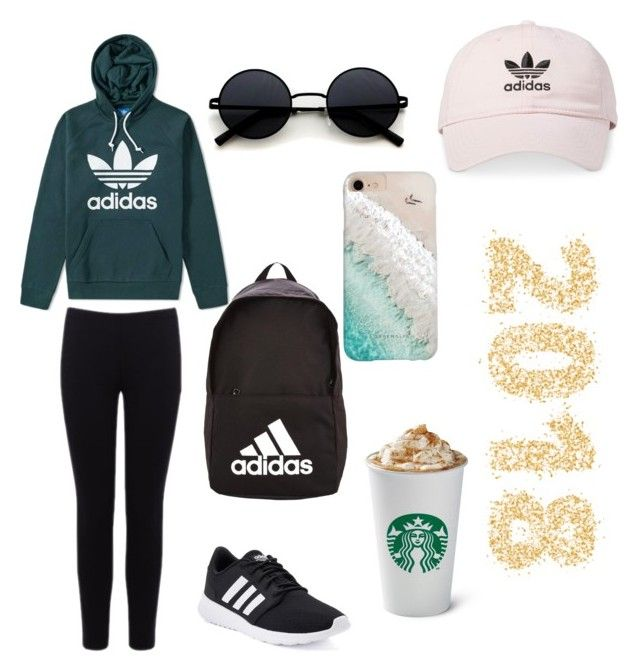 """""""🦋🦋"""" by perrellafernanda ❤ liked on Polyvore featuring adidas, Warehouse and Gray Malin"""