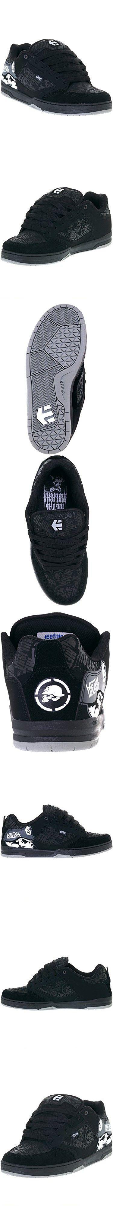 Etnies Men's Metal Mulisha Cartel Skateboarding Shoe, Black/Skulls, 10 M US