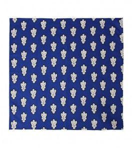 """Foulard Bandana provençal coton """"La Grosse Mouche"""" bleue 60x60 cm"""