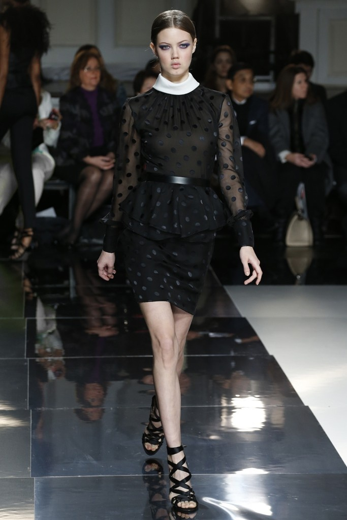 Jason Wu RTW Fall 2013. Change the white collar to black silky ruffles and change the belt to black silky ribbon