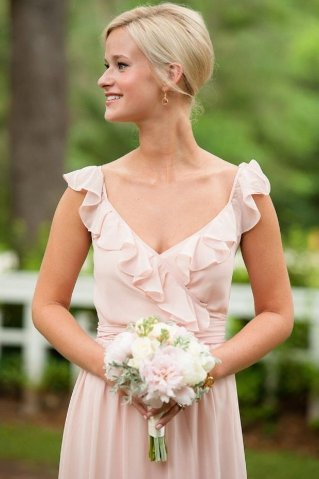 JoAnna August dresses. The Lacey Long....so femininely romantic bridesmaid dress