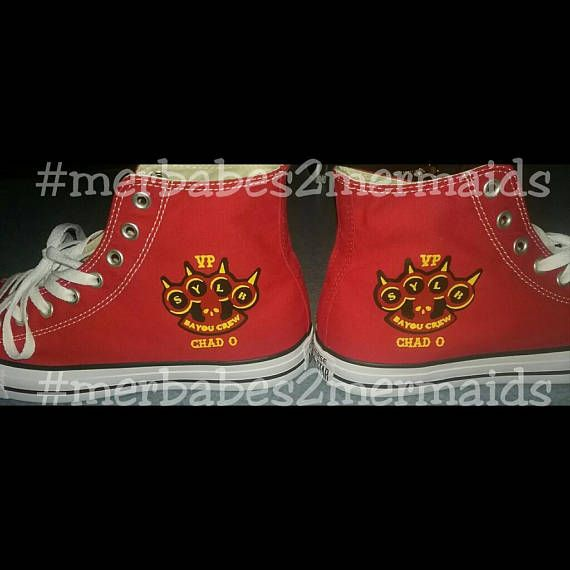Custom made Converse High tops Motorcycle Club Emblem Many