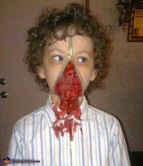 Unzipped zipperface costume kid homemade and halloween for 9 year old boy halloween costume ideas