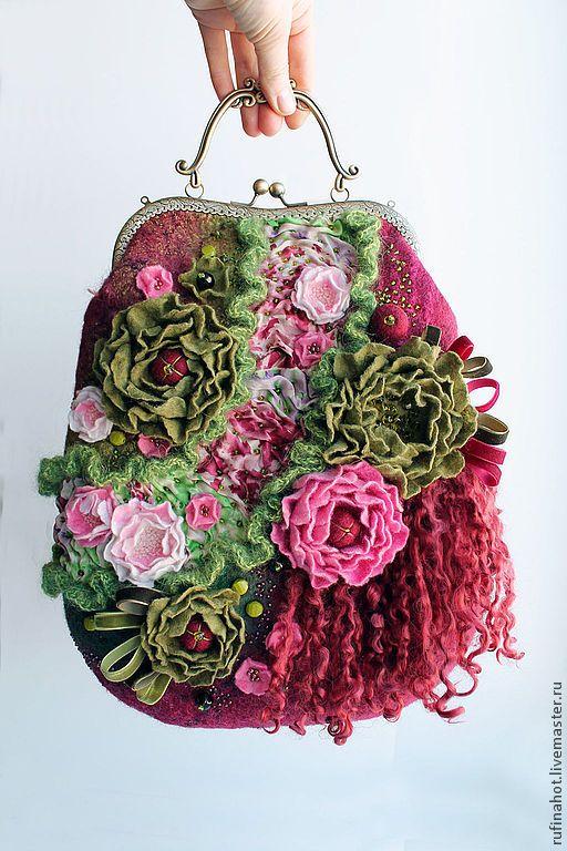 Сумка женская. Весенний порыв - купить сумку,купить сумку валяную,сумку валяную купить