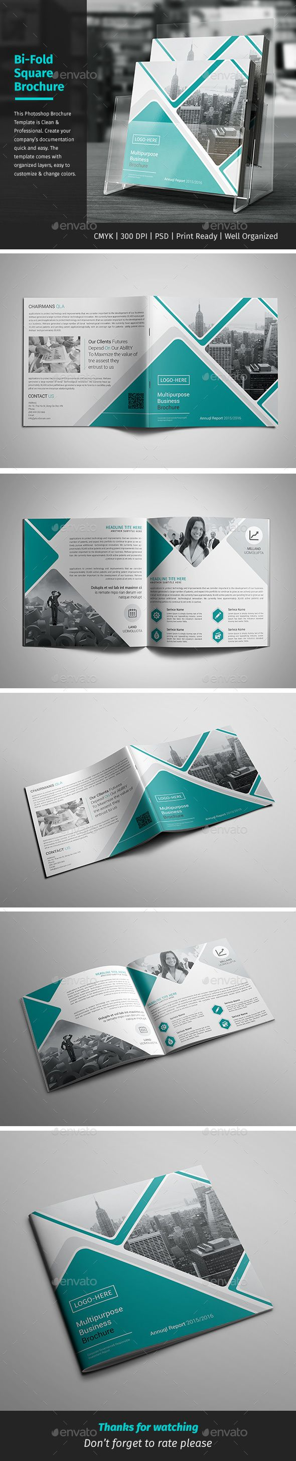 Corporate Bi-fold Square Brochure Template PSD. Download here: http://graphicriver.net/item/-corporate-bifold-square-brochure-01/15641626?ref=ksioks