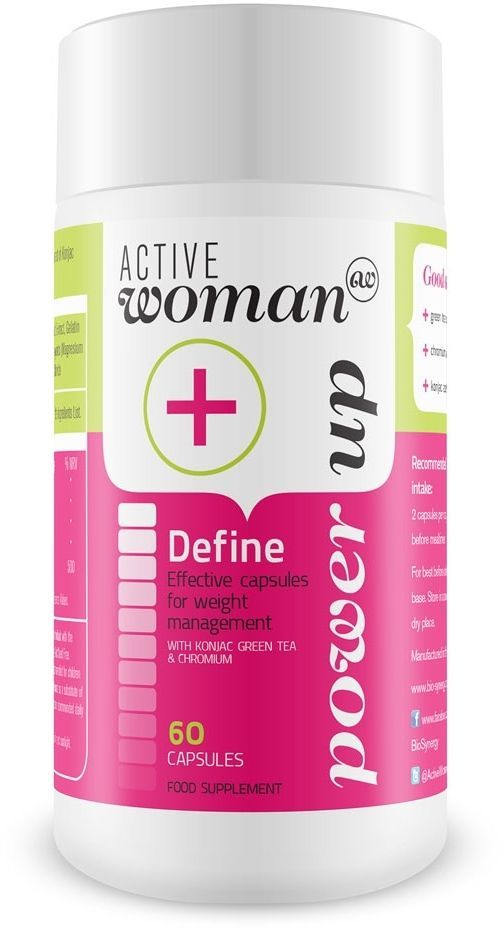 Active Woman Define, 60 Capsule Konjac can improve digestion and energy use
