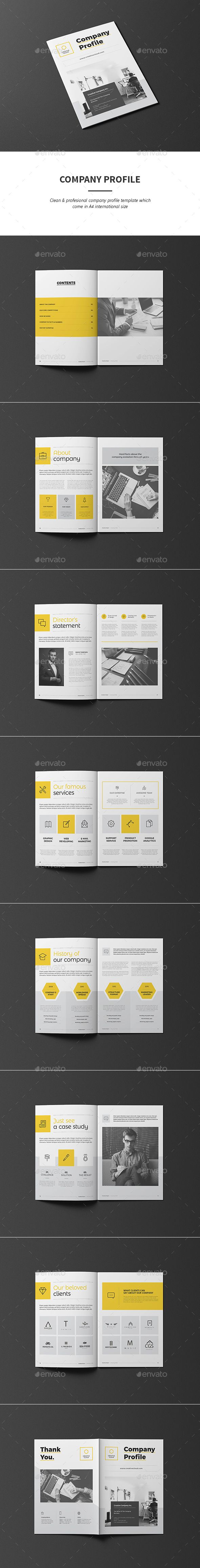Company Profile — InDesign INDD #brief #identity • Download ➝ https://graphicriver.net/item/company-profile/18801829?ref=pxcr