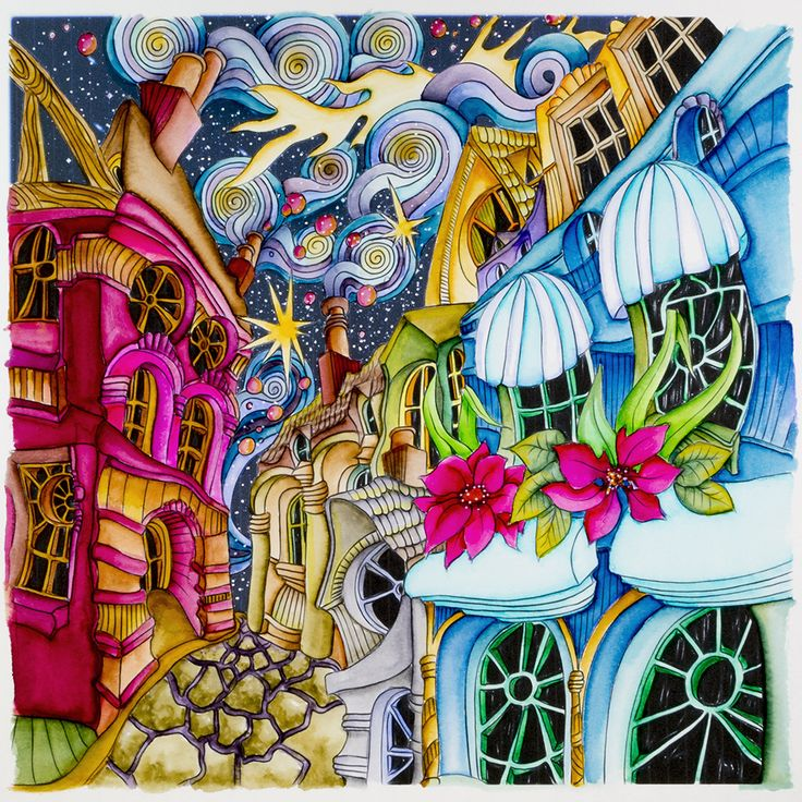 Cobbled Streets From Lizzie Mary Cullen Book Magical City Colored By Me Roger Malinowski Using Tombow Brush Markers I Love The Detail Colour And