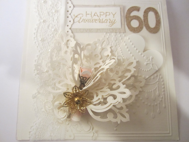 60th Wedding Anniversary Card Making Ideas Part - 33: 60th Wedding Anniversary Card