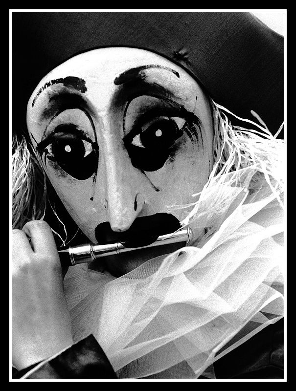 Basel ~ One Mask of Carnival at Morgestraich - going on at 4 am (Minus 2)