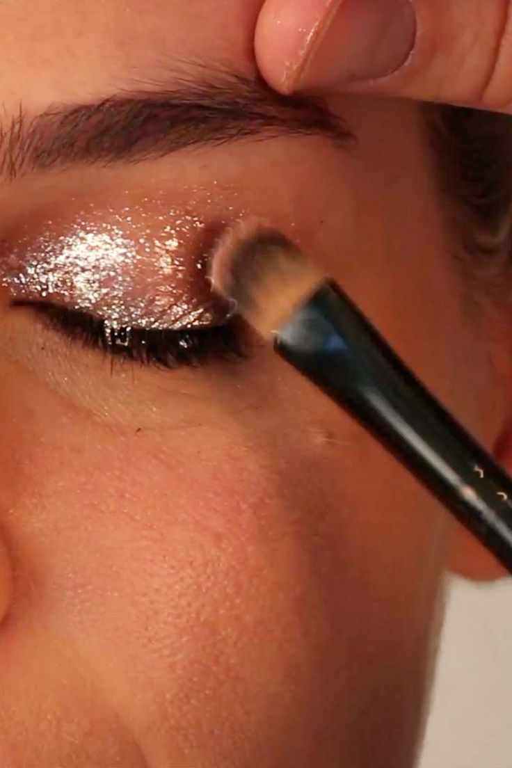 Beauty GIF: How to Create a Holiday Confetti-Glitter Eye