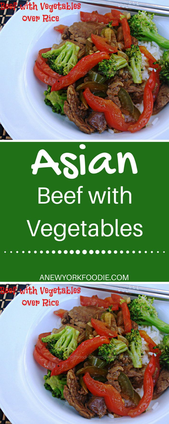 Asian Beef with Vegetables.  An easy to make Asian beef dish with fresh healthy vegetables that is full of flavor.  #asian #beef #vegetables #recipes