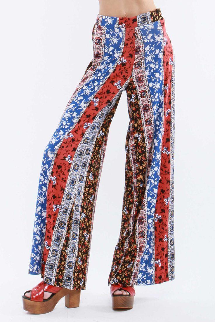 Floral print palazzo pants. P-24655-1