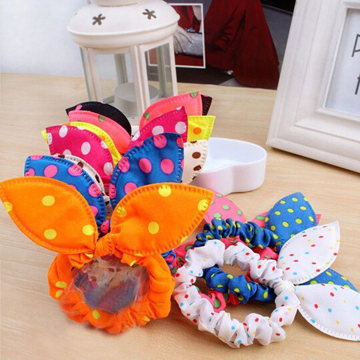 8Pcs/Lot Mix Style Flower Bunny Hair Clip Headbands Rabbit Ears Dot Headwear Elastic Hair Band Hair Rope Hair Accessories <3 Find out more by clicking the VISIT button