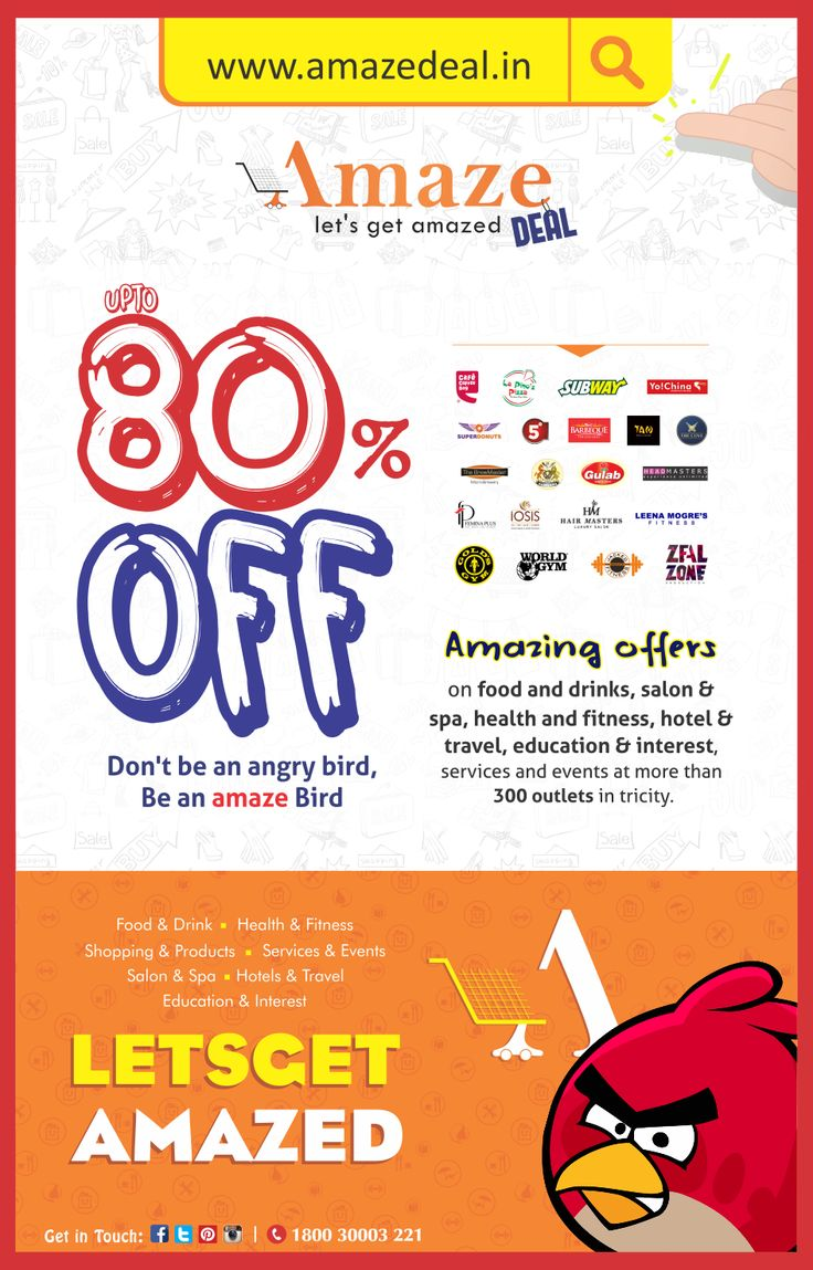 Amazing offers on food & drinks, #salon & spa, #health & fitness, #hotel & #travel, #education & interest, services & events at more than 300 outlets in #tricity.   For #Exciting #Deals Visit - www.amazedeal.in   #Amazedeal #Chandigarh #Panchkula #Mohali #Zirakpur #Deals #offer