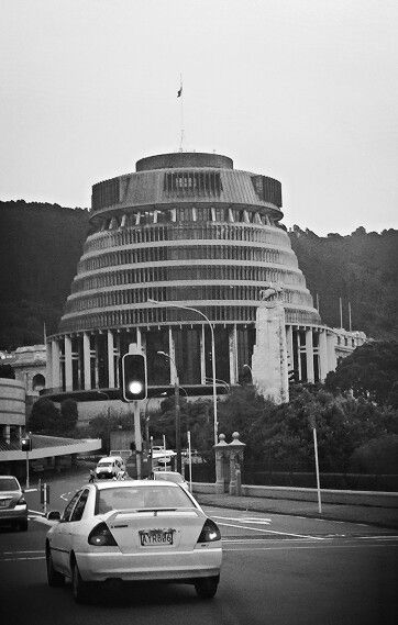 'The Beehive' Parliment, Wellington, New Zealand