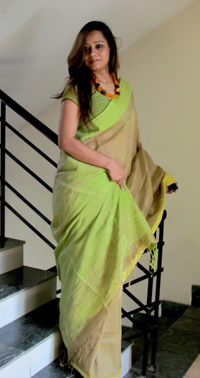 Pure #Linen #Saree