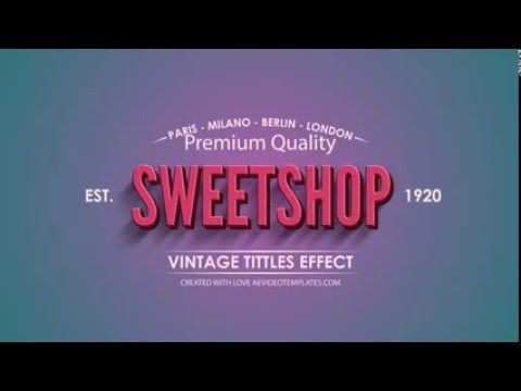 After Effects Animated Vintage Titles Template - AeVideoTemplates.com