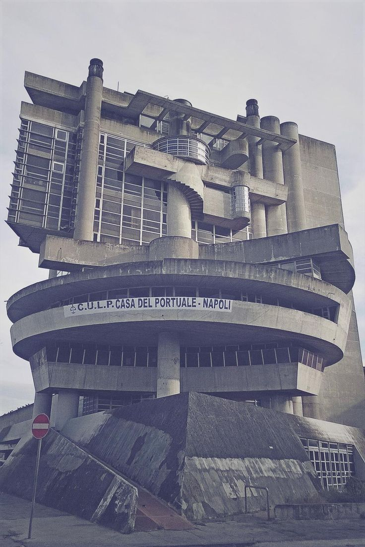 """Awful Architecture - #awfularchitecture - Brutal -1968-80 """"Social Services for Workers, Naples Port by Aldo Loris Rossi"""""""