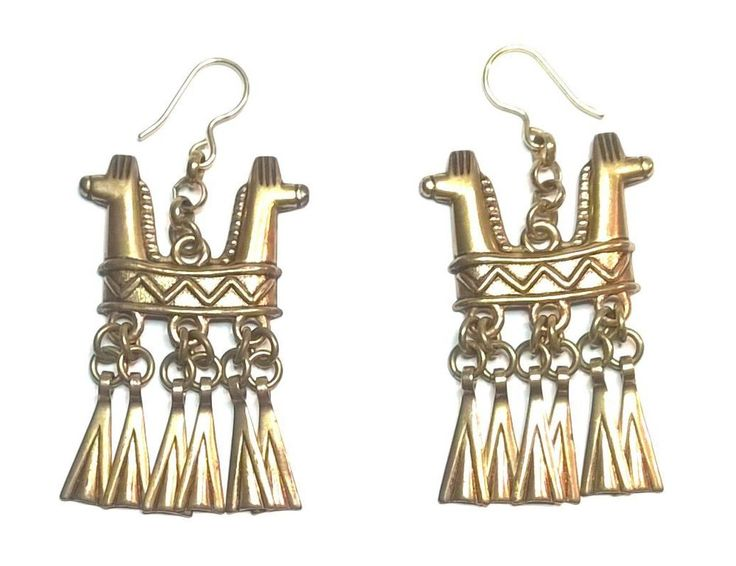 """Kalevala Koru """"Horse Head"""" Earrings"""