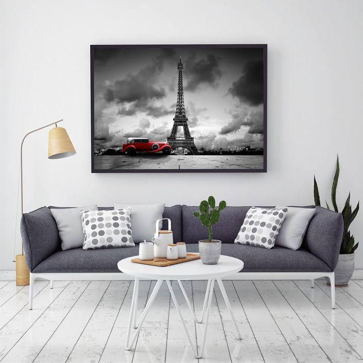 """Obraz """"Paryż"""" http://mural24.pl/konfiguracja-produktu/76327230/ #homedecor #fototapeta #obraz #aranżacjawnętrz #wystrójwnętrz, #decor #desing"""