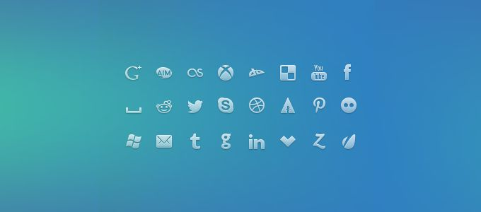 Social Network Icons - 365psd