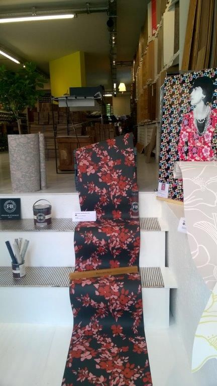 A wonderful floral themed display from F&B stockist Infinessance Deco in France.