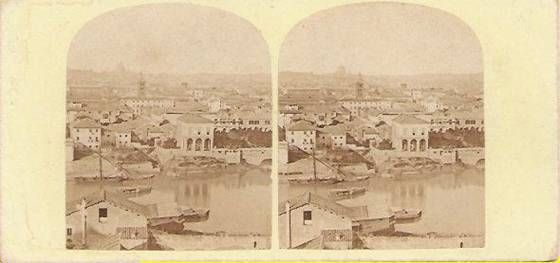 Stereograph view of Rome
