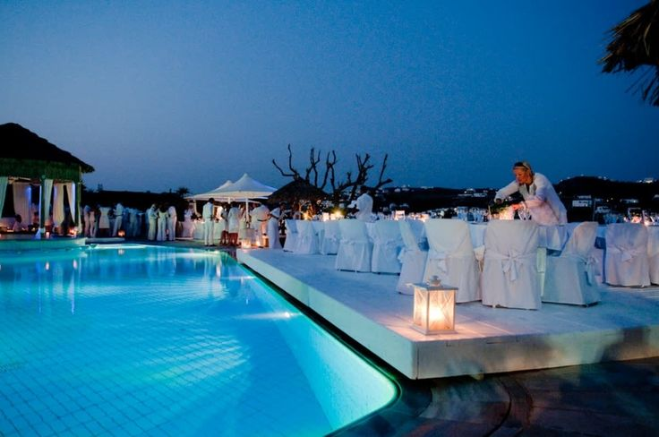 A warm, still night blends the aromas of twilight, reflections from candle-lit lanterns dance on the water… Could your wedding party really be anywhere else but #kivotosmykonos? #weddings #luxuryhotels #mykonos #summer #instatraveling #love #honeymoon #WeddingParties http://qoo.ly/g7vua