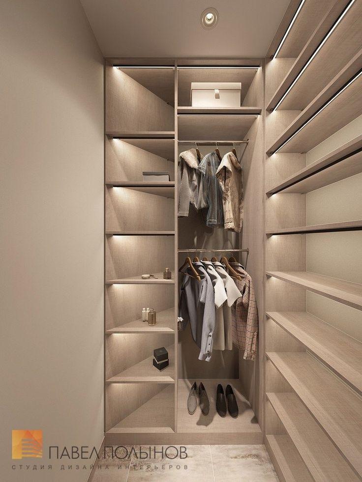 Фото гардеробная из проекта «Дизайн интерьера трехкомнатной квартиры 127 кв.м., ЖК «Парадный квартал», современный стиль»