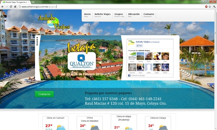 Sitio web de agencia de viajes | Link Bajío