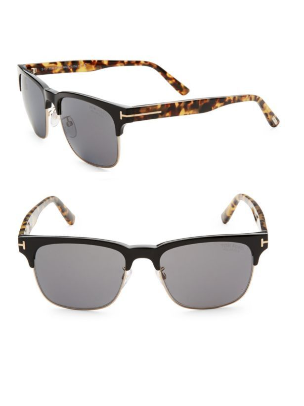 989261ed6e98 Tom Ford Louis TF386 01D Sunglasses Gold Black Frame Dark Gray Polarized  55mm  fashion