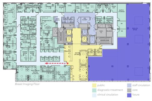 Oncology Center Floor Plans Lauder Breast Center Etsu