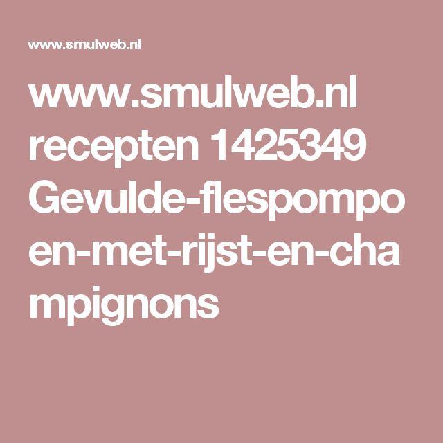 www.smulweb.nl recepten 1425349 Gevulde-flespompoen-met-rijst-en-champignons