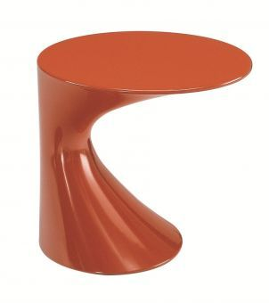 Todd side table by Todd Bracher for Zanotta: a playful creation that merges art with functionality. Also appropriate for outdoor environments thanks to its glossy finish.