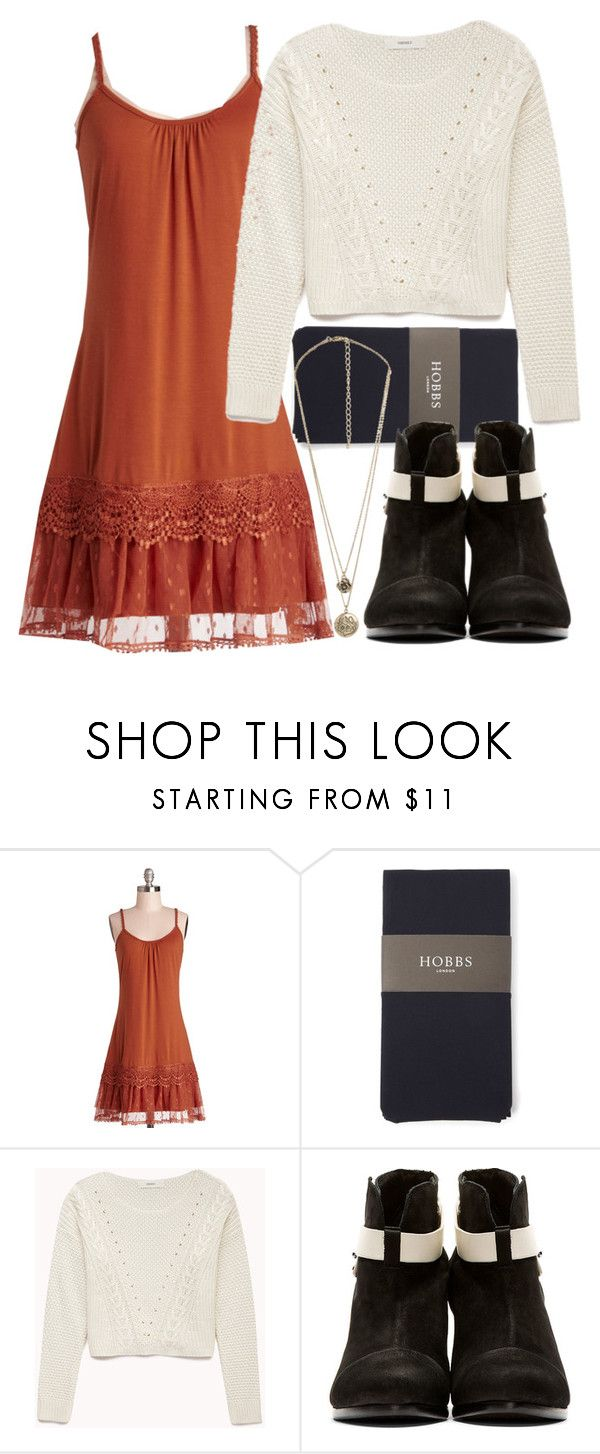Allison Inspired Outfit with an Orange Dress by veterization on Polyvore featuring Ryu, Forever 21, Hobbs and rag & bone