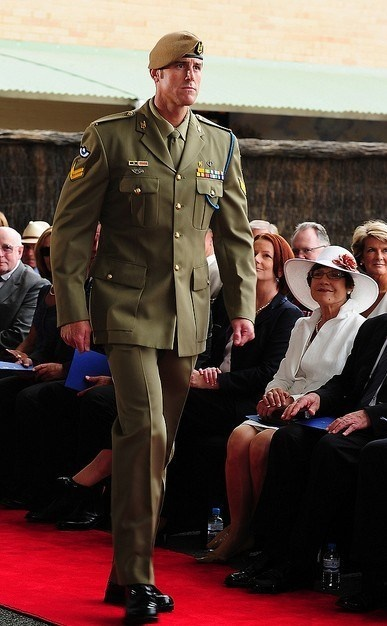 Australian Special Forces soldier Corporal Ben Roberts-Smith receiving his Victoria Cross.