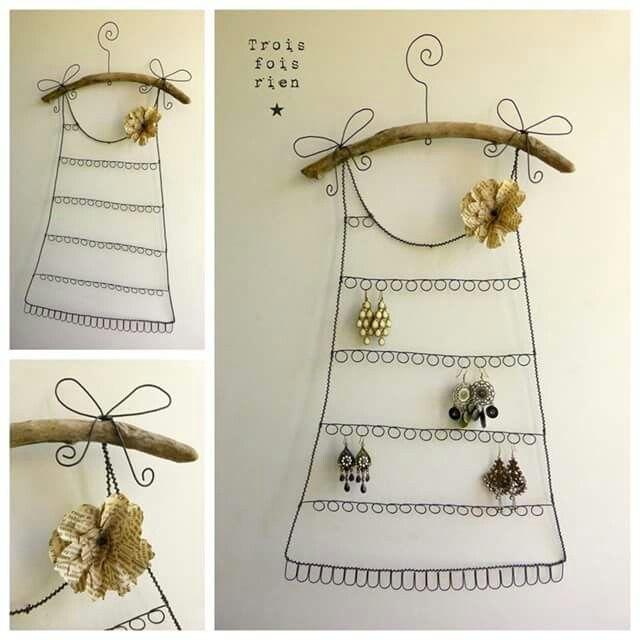 Bellísima idea hecha con alambre