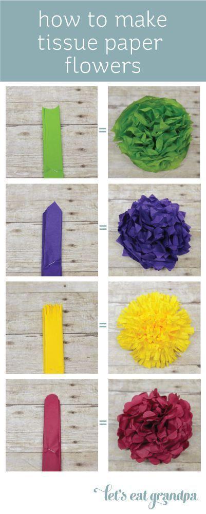 Wie man Seidenpapierblumen auf vier Arten herstellt