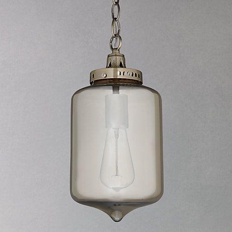Buy John Lewis Christophe Smoked Lantern Pendant Online at johnlewis.com £75 - possible hallway?