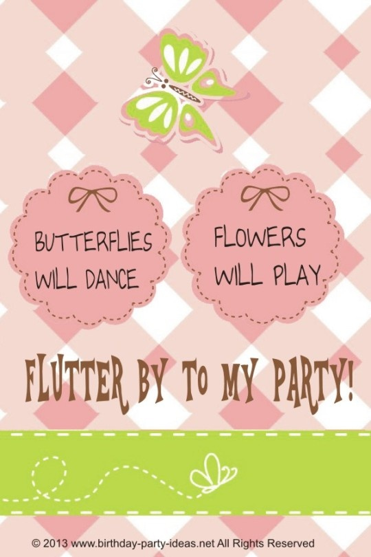 85 best happy birthday images on pinterest birthday wishes flutter away to a butterfly birthday party stopboris Gallery