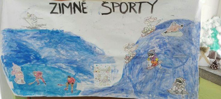 Deti si sami urobili veľký prehľad zimných športov :-)
