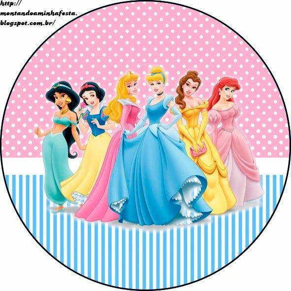 Princesas Disney: Etiquetas Gratis para Candy Bar.