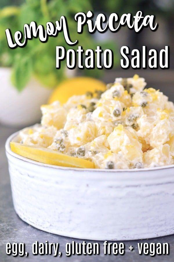 Best Potluck Recipe – Lemon Piccata Potato Salad – an egg free potato salad spab…